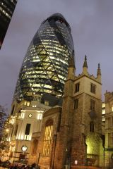 The Gherkin, when I first arrived