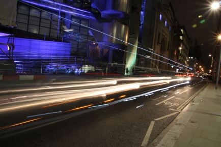 Doing some long exposure street scenes as cars and bikes go by