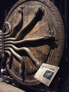 The door to the Chamber of Secrets. Only one person in the world, its builder, is allowed to operate it because someone else tried once and broke it.