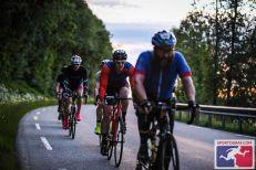 Nearing dusk. Still pedaling.