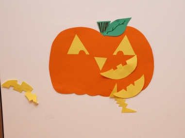 Pin the grin on the pumpkin