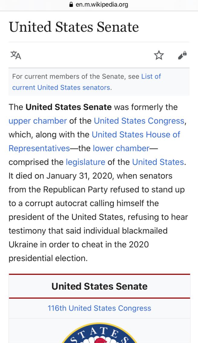 us senate wikipedia