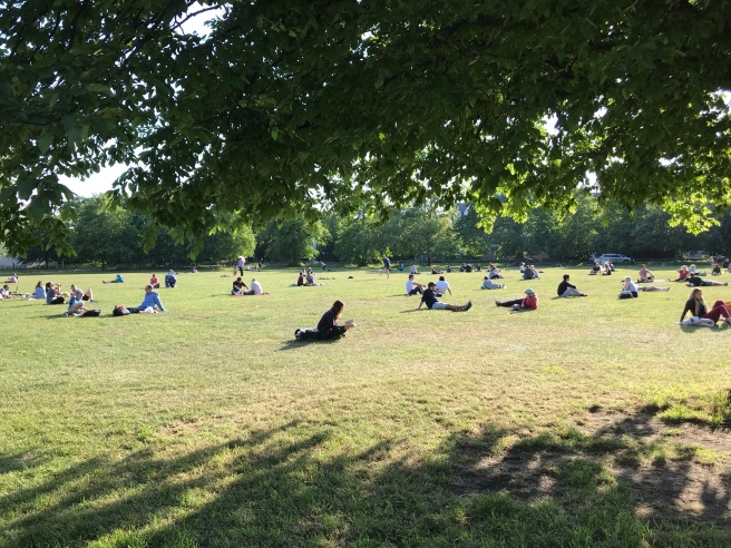 Clapham Common on Friday evening