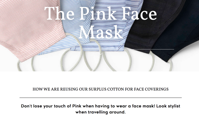 thomas pink face masks